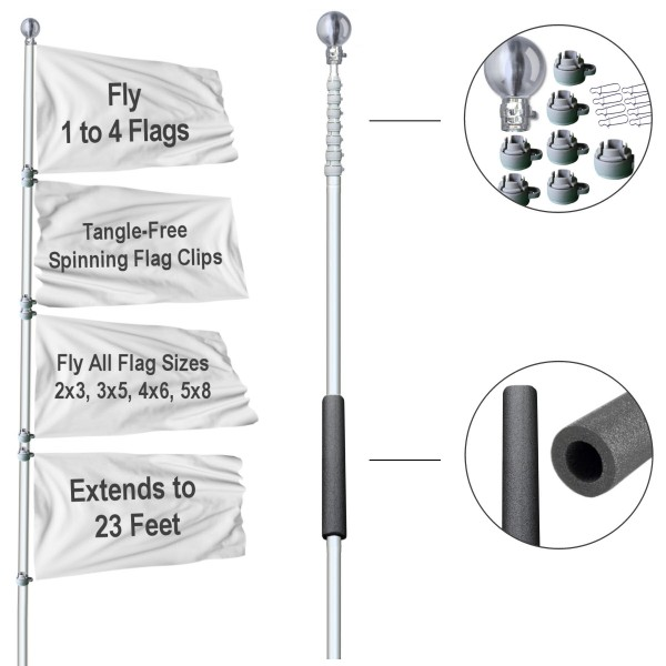Tailgate 23 Foot Flagpole