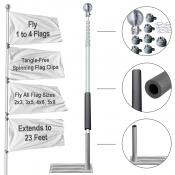 Tailgating Flag Pole and Wheel Stand Kit