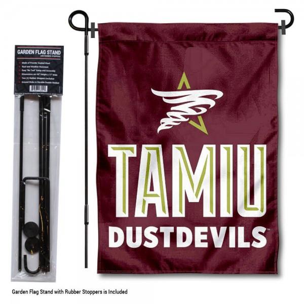 TAMIU Dustdevils Garden Flag and Holder