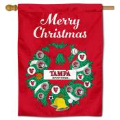 Tampa Spartans Christmas Holiday House Flag