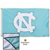 Tar Heels NC Logo Appliqued Nylon Flag