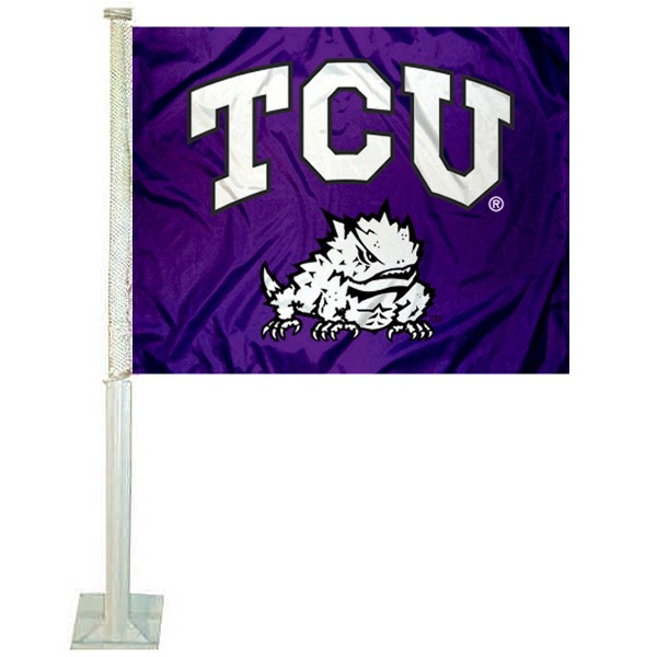 TCU Car Flag