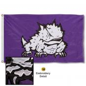 TCU Horned Frogs Appliqued Nylon Flag