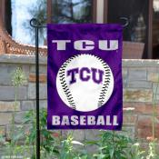 TCU Horned Frogs Baseball Garden Flag