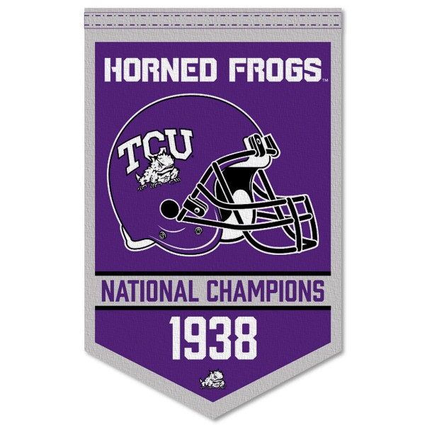 TCU Horned Frogs College Football National Champions Banner