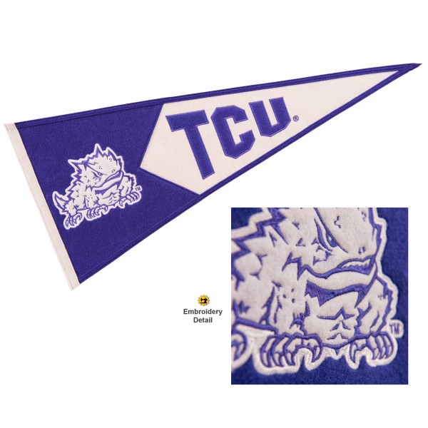 TCU Horned Frogs Embroidered Wool Pennant