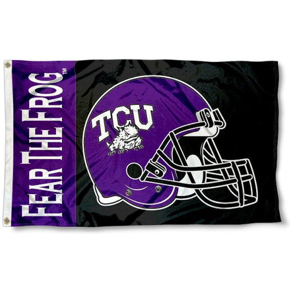 TCU Horned Frogs Football Helmet Flag