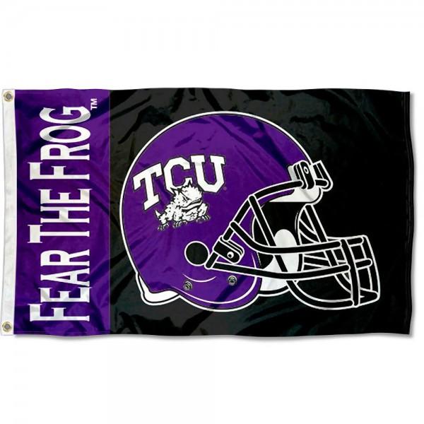 TCU Horned Frogs Football Helmet Flag