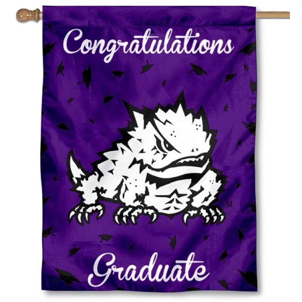 TCU Horned Frogs Graduation Banner