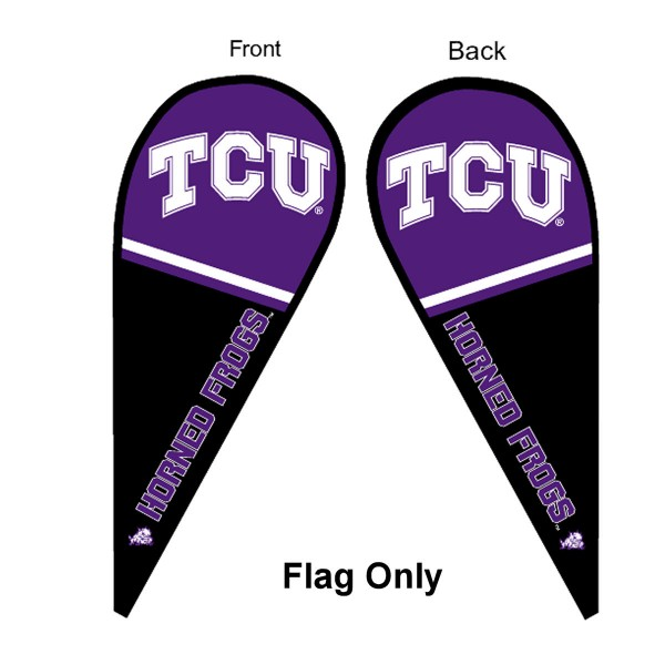 TCU Horned Frogs Teardrop Flag