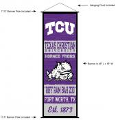 TCU Horned Frogs Wall Banner and Door Scroll