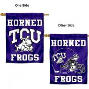 TCU Horned Frogs Wordmark House Flag