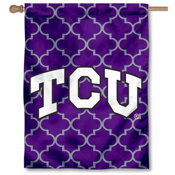 TCU Patterned House Flag