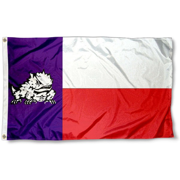 TCU Texas State Flag