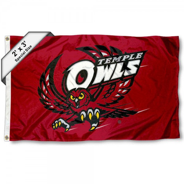 Temple Owls 2x3 Flag