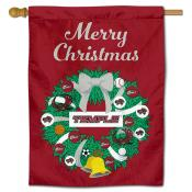 Temple Owls Christmas Holiday House Flag