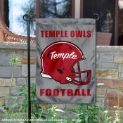Temple Owls Football Garden Flag