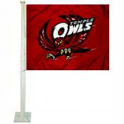Temple Owls Logo Car Flag