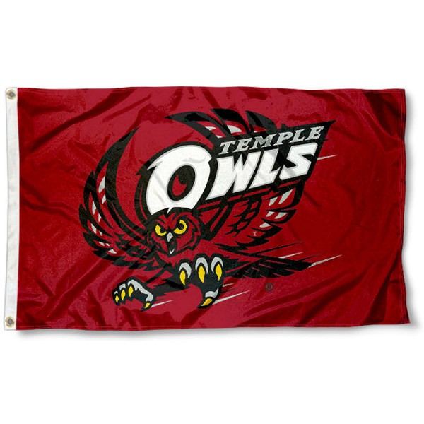 Temple Owls Logo Flag