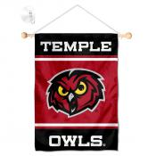 Temple Owls Window Hanging Banner with Suction Cup