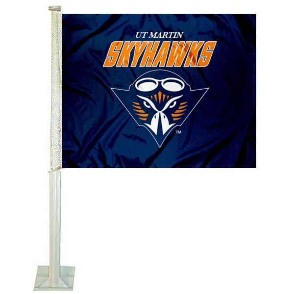 Tennessee Martin Skyhawks Car Flag
