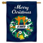 Tennessee Martin Skyhawks Christmas Holiday House Flag