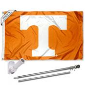Tennessee Vols Flag and Bracket Mount Flagpole Set