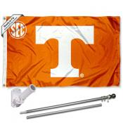 Tennessee Vols SEC Conference Flag and Bracket Flagpole Set