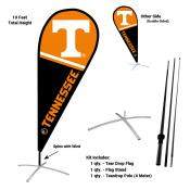 Tennessee Vols Teardrop Flag and Stand Kit
