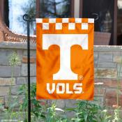 Tennessee Volunteers Checkered Garden Banner