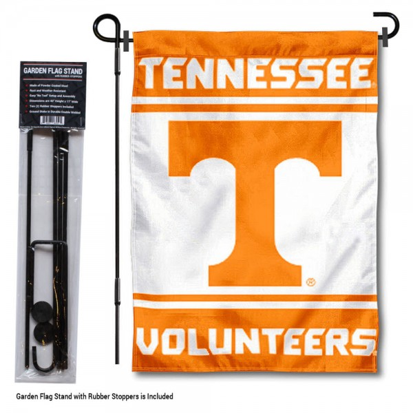 Tennessee Volunteers Garden Flag and Holder