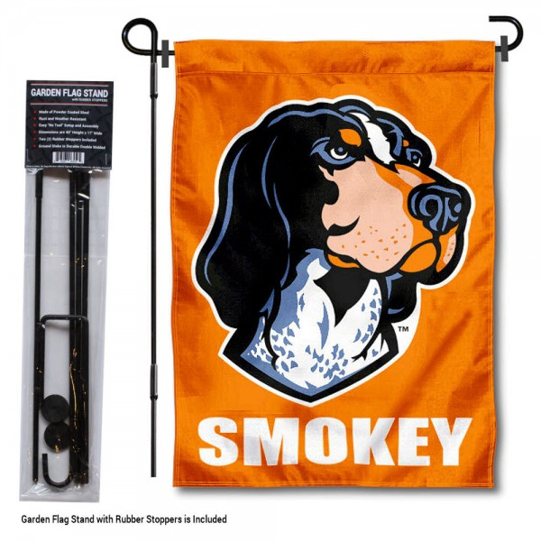 Tennessee Volunteers Smokey Garden Flag and Holder