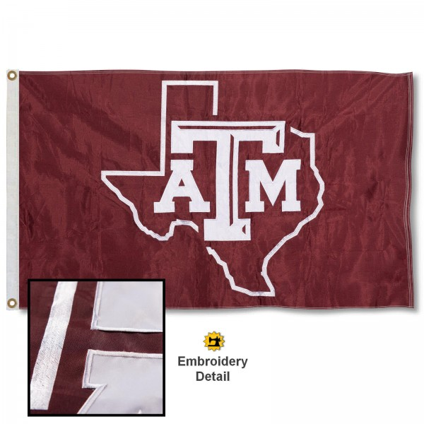 Texas A&M Aggies Appliqued Nylon Flag