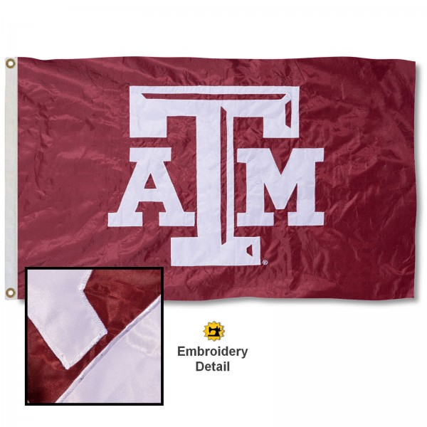 Texas A&M Aggies Appliqued Sewn Nylon Flag