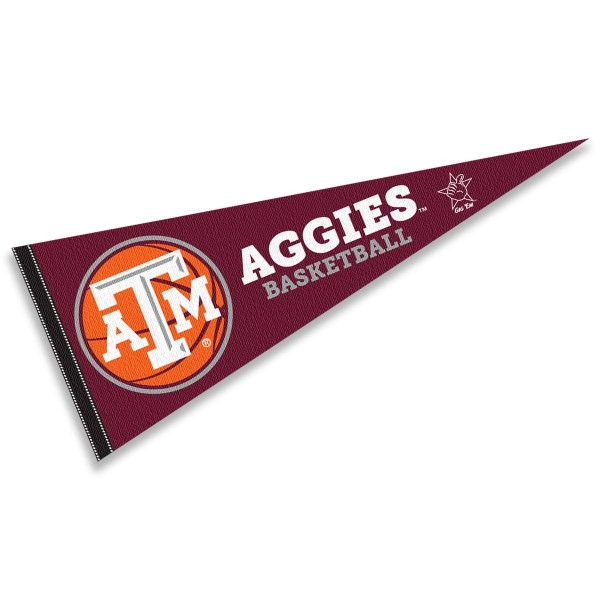 Texas A&M Aggies Basketball Pennant