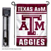 Texas A&M Aggies Garden Flag and Holder