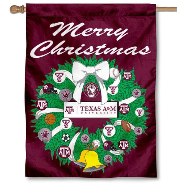 Texas A&M Aggies Holiday Flag