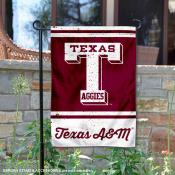 Texas A&M Aggies Retro Throwback Garden Banner