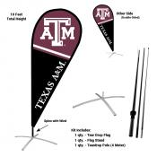 Texas A&M Aggies Teardrop Flag and Stand Kit