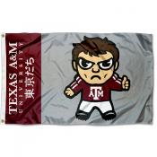 Texas A&M Aggies Tokyodachi Cartoon Mascot Flag