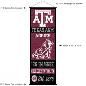 Texas A&M Aggies Wall Banner and Door Scroll