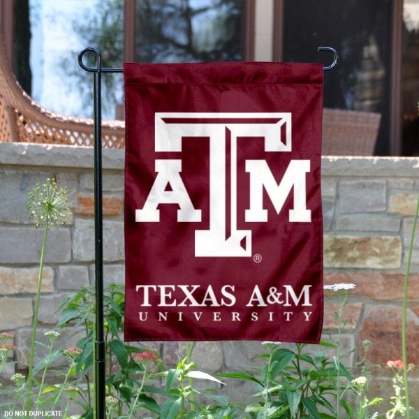 Texas A&M Aggies Wordmark Garden Flag