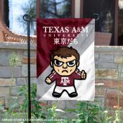 Texas A&M Aggies Yuru Chara Tokyo Dachi Garden Flag