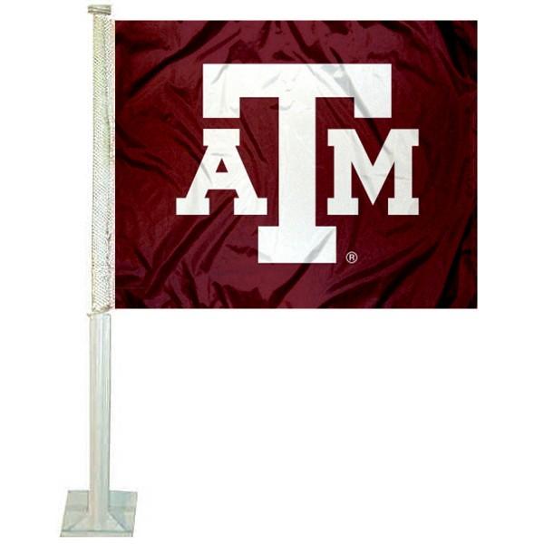Texas A&M ATM Logo Car Flag