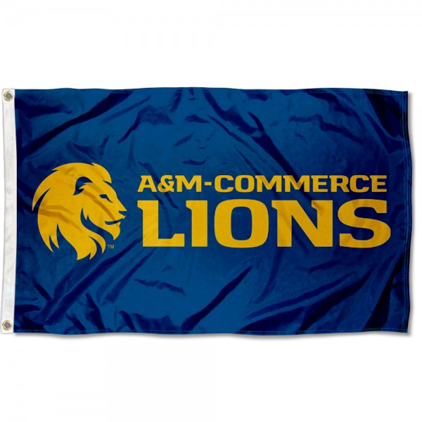 Texas A&M Commerce Lions 3x5 Foot Flag