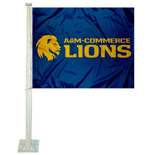 Texas A&M Commerce Lions Car Flag