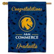 Texas A&M Commerce Lions Graduation Banner