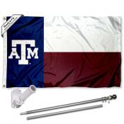 Texas A&M Flag and Bracket Flagpole Kit