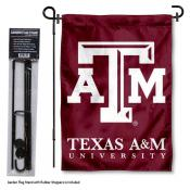 Texas A&M Garden Flag and Holder