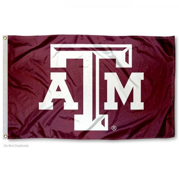 Texas A&M Logo Flag